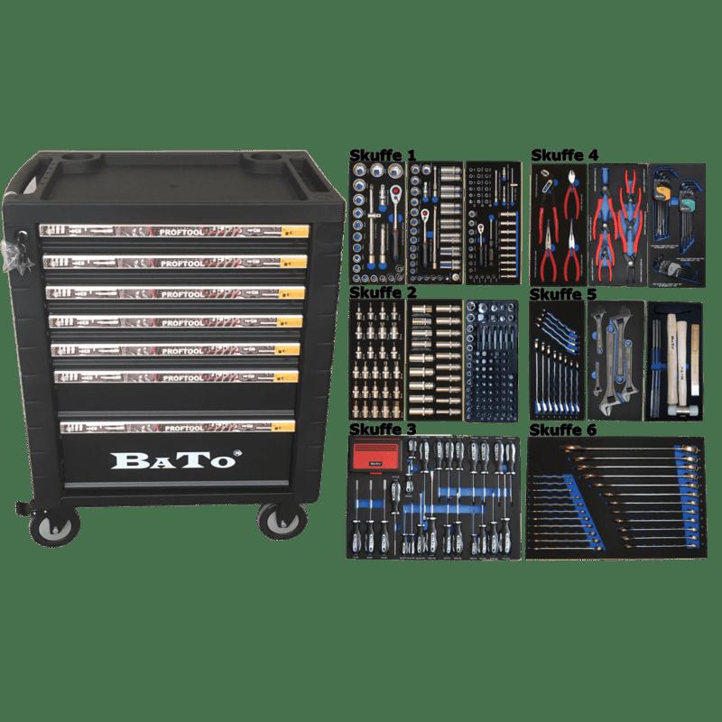 BATO Værktøjsvogn 7 skuffer 437 dele