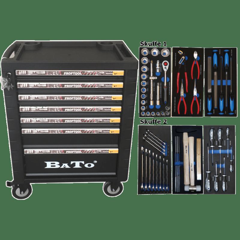 BATO Værktøjsvogn 7 skuffer 60 dele
