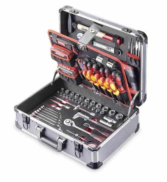 "JET Aluminium Værktøjskasse 1/4 ""+ 1/2"", 174 stk."